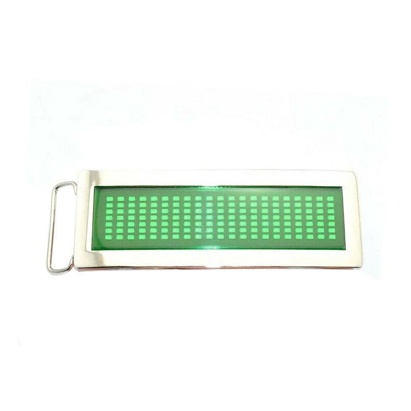 Blue Text Flash LED Scrolling Buckle Party