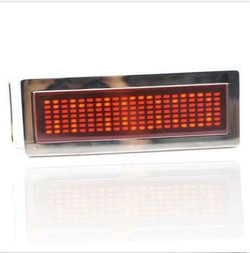 Blue Red Green Text Flash Chrome LED Party