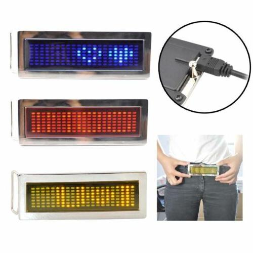 Programmable Rechargeable LED Scrolling DIY Text Belt Party