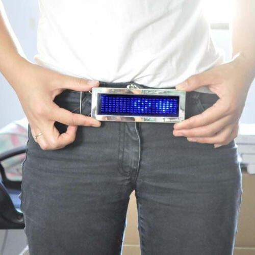 Programmable Rechargeable LED Belt Buckle Party