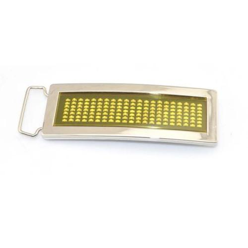 Programmable Scrolling DIY Flash Chrome Belt Buckle Party