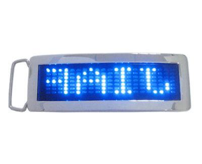 Programmable Scrolling Message LED Flash Light Buckle