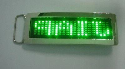 Programmable Scrolling Message LED Flash Light Belt Buckle DIY