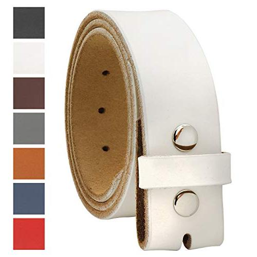 replacement genuine leather belt strap without buckle