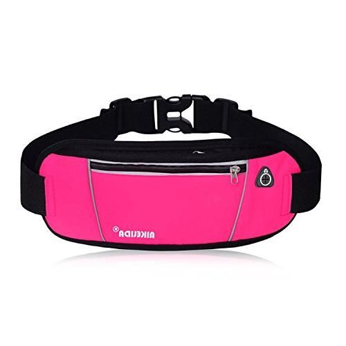 AIKELIDA Running Belt/Fanny Pack/Fitness Belt/Waist for Samsung - Running, Workout Pink