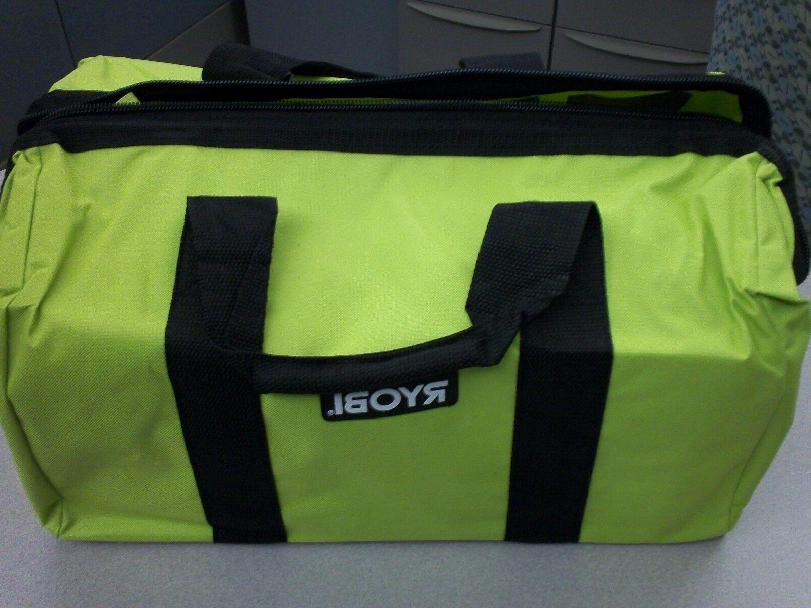 Ryobi One Contractors Canvas Green Wide-Mouth Tool Bag...