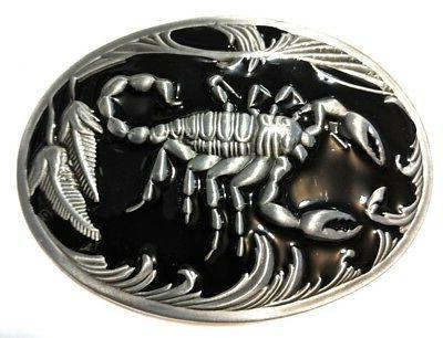 scorpion belt metal satin nickel brushed silver