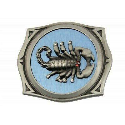 scorpion image stainless steel belt buckle lighter