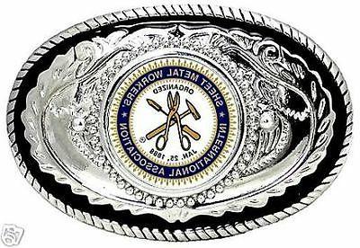 sheet metal workers international association belt buckle