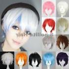 Short Cosplay Wigs Women Men Male Halloween Hair Unisex Full