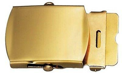 """Solid Brass Military Web Belt Buckle 1.25"""""""