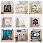 Square Pillow Case Cover Cotton Linen Home Decorative Throw