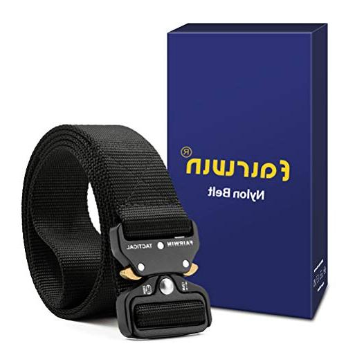 Fairwin Belt, Style Riggers Belt with Heavy-Duty Metal Buckle