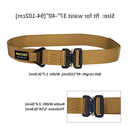 Fairwin Tactical Rigger's Military Style Nylon Heavy-Duty Quick-Release Buckle and D-Ring.