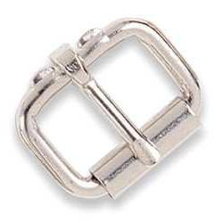 """Tandy Leather 1-1/2"""" Single Prong Roller Buckle Nickel 1518-"""