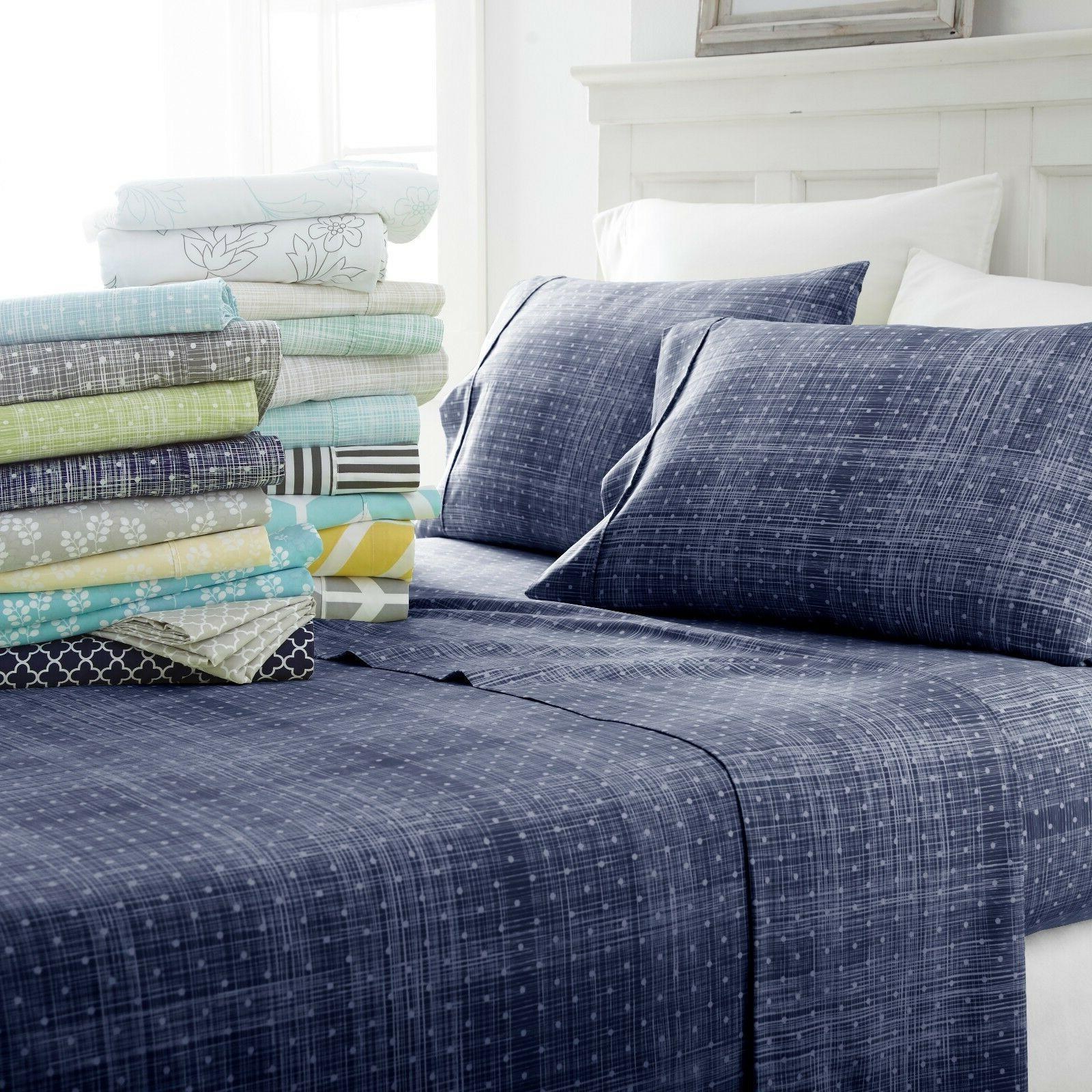 The Home Collection - 4 Piece Pattern Bed Sheet Sets - 5 Des