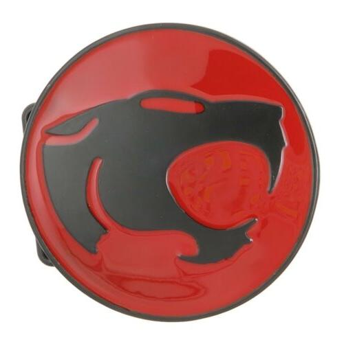 thundercats black red logo metal belt buckle