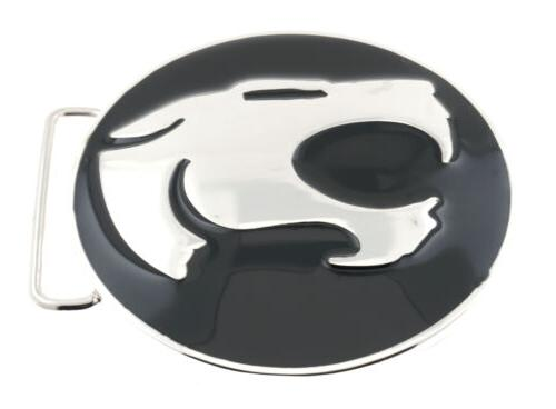 thundercats black silver metal belt buckle