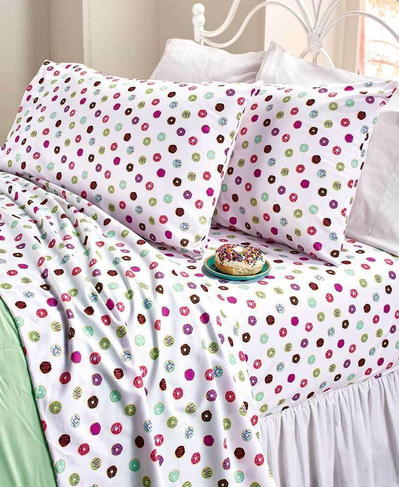 Twin Full Queen Novelty Printed Sheet Sets Colorful Sprinkle