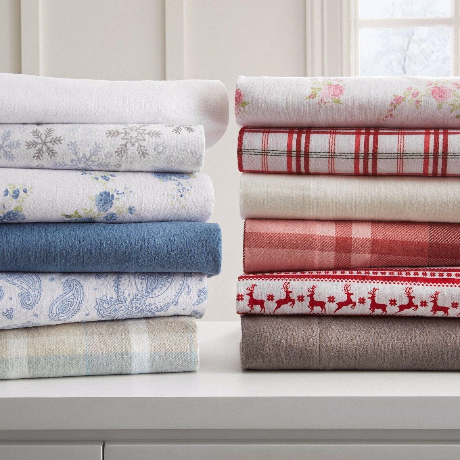 Ultra Soft Premium All-Season 4 Piece Flannel Bed Sheet Set