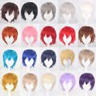 Unisex Anime Short Wig Straight Hair Cosplay Costume Party H