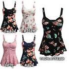 US Stock PLUS SIZE Women Summer Floral Print Sleeveless Vest