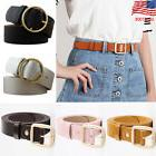 US STOCK Women Vintage Metal Boho Leather Round Buckle Waist