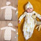 USA Newborn Baby Boys Girl Deer Long Sleeves Romper Blanket