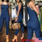 USA Women Hot Washed Jeans Denim Casual Hole Loose Jumpsuit