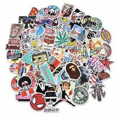 Breezypals 100 Pcs Waterproof Vinyl Stickers For Laptop, Car