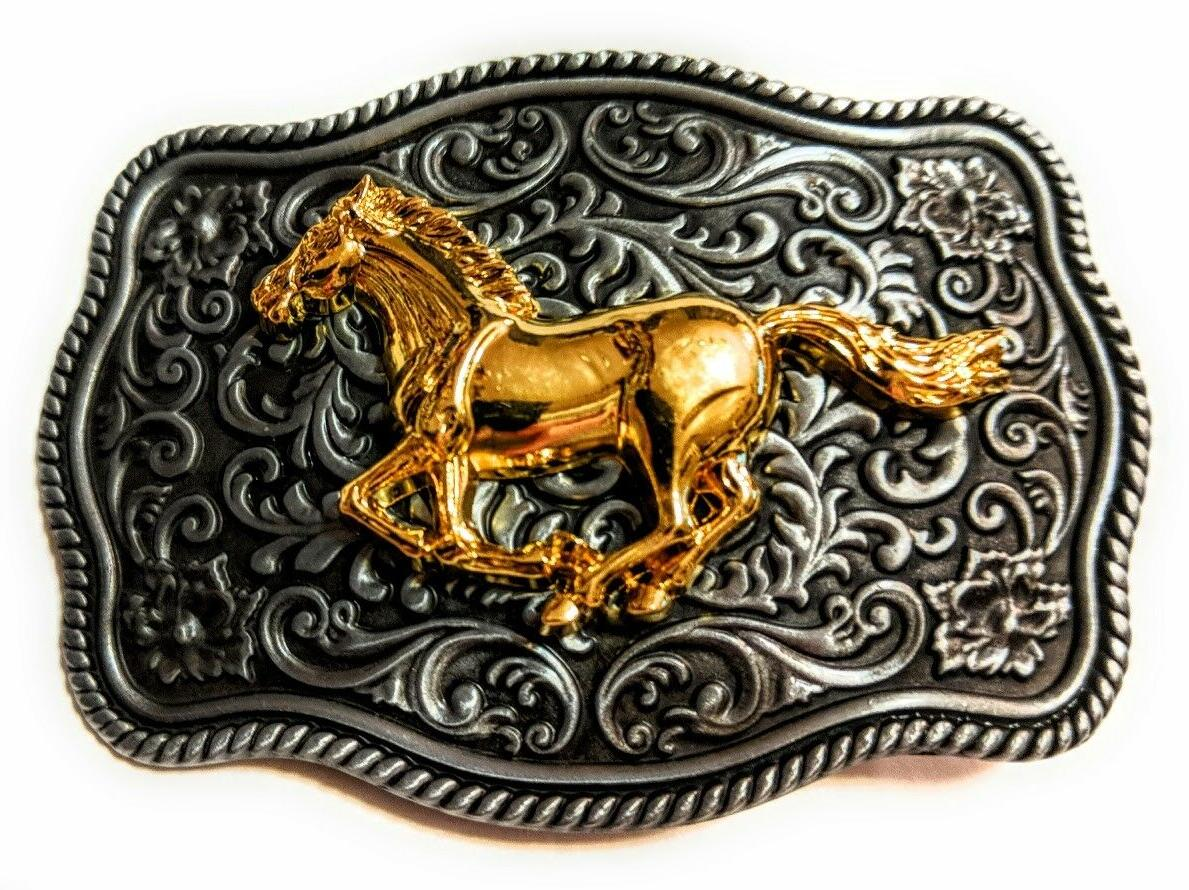 western horse cowboy rodeo style belt buckle