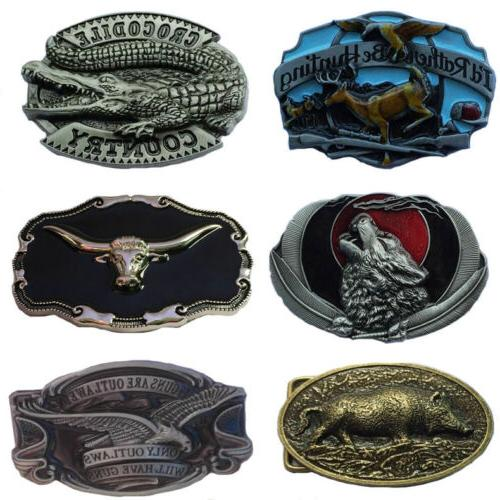 Western Men's Alloy Belt Buckle Pattern