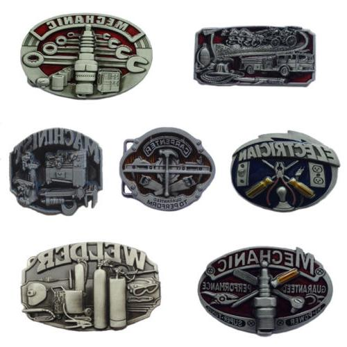 Western Alloy Leather Belt Buckle