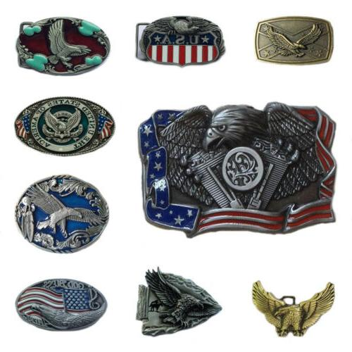 Western Men's Alloy Leather Belt Buckle Vintage Cowboy Pattern 38/40MM