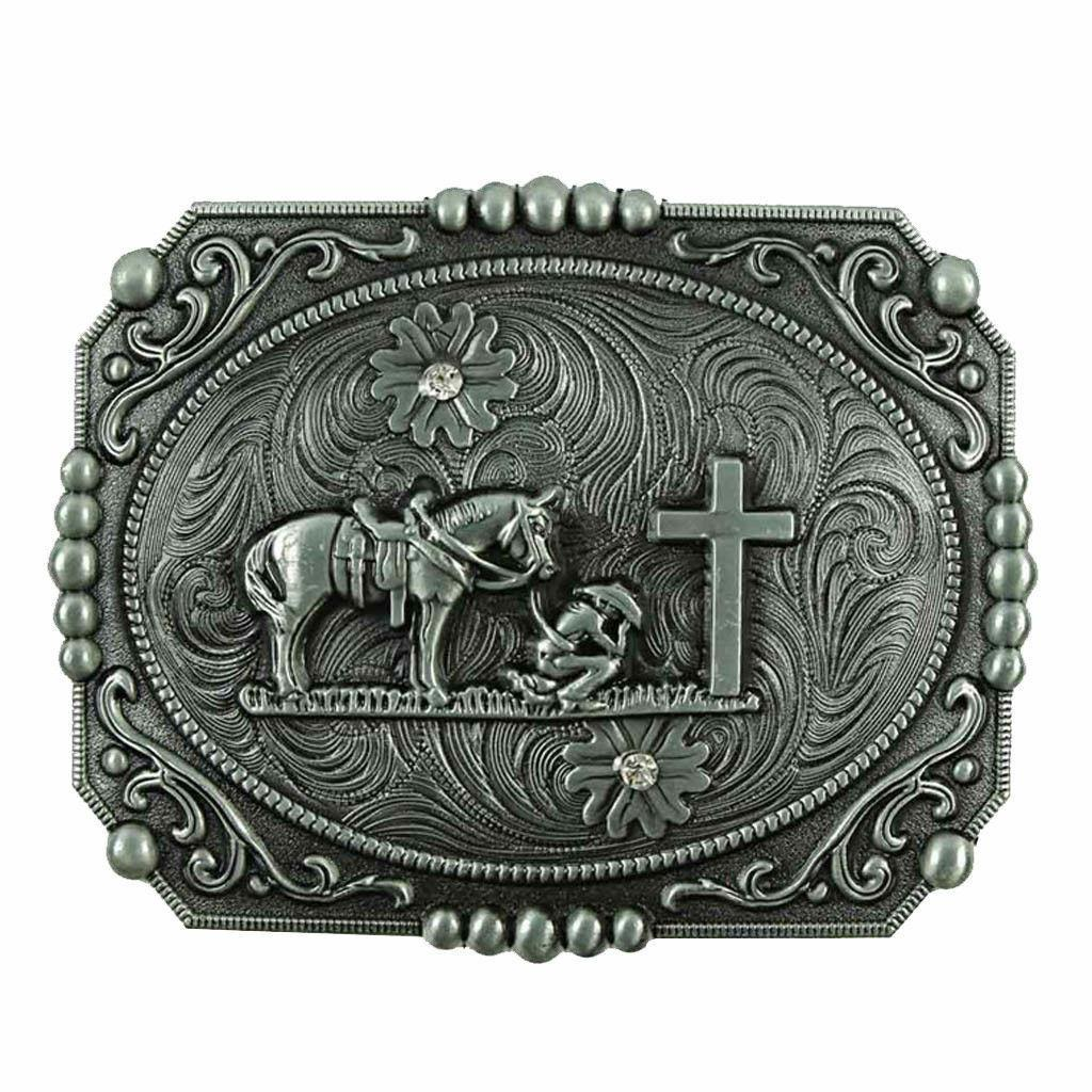 ✖ WESTERN STEER Cross Cowboy Horse Faith Rodeo Style Large