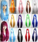 Women 80cm Long Straight Wigs Fashion Cosplay Costume Anime