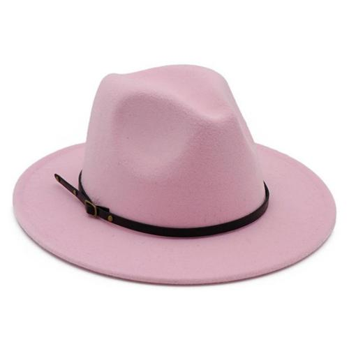 Lisianthus Women Belt Buckle Fedora Hat Pink