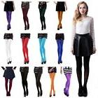 Women's Opaque Tights Solid Pantyhose Footed Stockings Winte