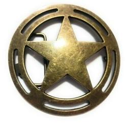 "♈ LARGE 4"" Old West Star Belt Buckle COWBOY ♈ Marshall S"