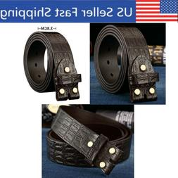 Leather Belts For Men Boys Without/No Buckle 1 3/8 Inch with