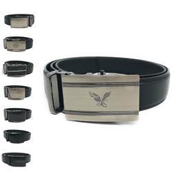 Casaba Leather Mens Ratchet Belt Sliding Adjustable Automati