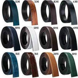 Leather Mens Replacement Belts Without Buckle Ratchet Adjust