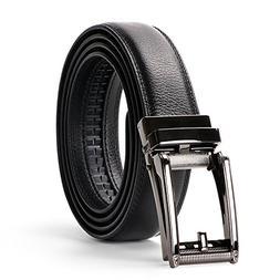 WERFORU Leather Ratchet Dress Belt for Men Perfect Fit Waist