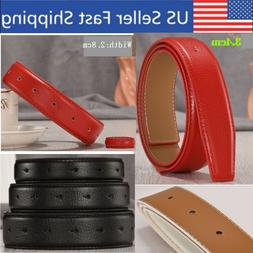 Leather Replacement Belts Straps For Men Without Buckle 1 3/