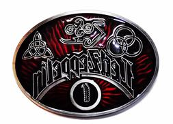 Led Zeppelin Rock Band Oval Logo Metal Enamel Belt Buckle