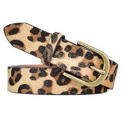 Talleffort Leopard Print PU leather Belt Women's Waist Belt