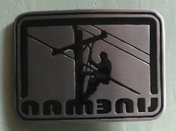 "LINEMAN BELT BUCKLE NEW APPROX. 3"" X 2 1/4"""