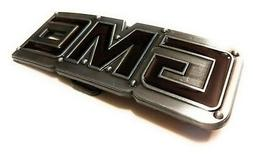 GMC logo Belt Buckle Antique silver/Stop light dark red Colo