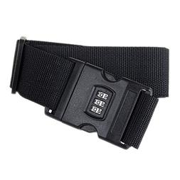 luggage strap adjustable suitcase belt with security