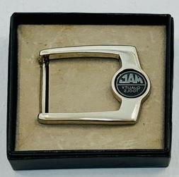 Mac Quality Tools Belt Buckle Silver Tone Collectible Emblem